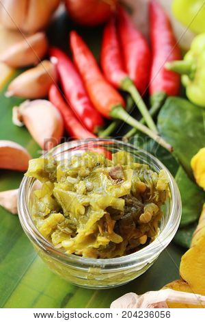 Nam Prik Num (Northern Thai Green Chilli Dip)