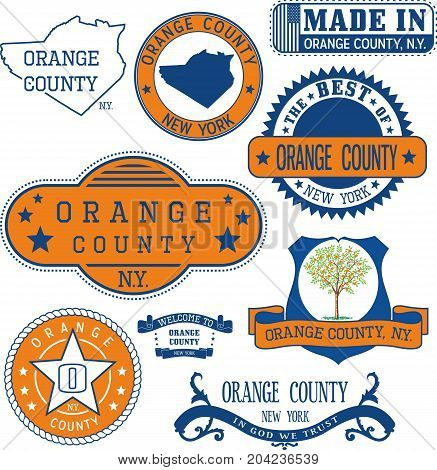 Generic Stamps And Signs Of Orange County, Ny