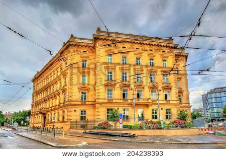 Buildings in the old town of Brno - Moravia, Czech Republic
