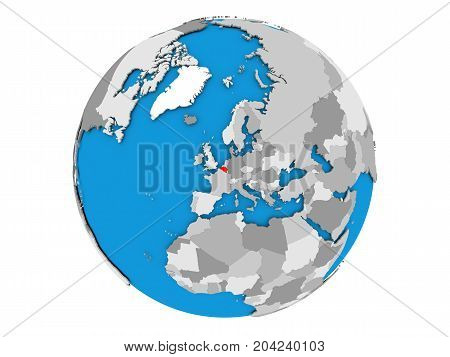 Belgium On Globe Isolated