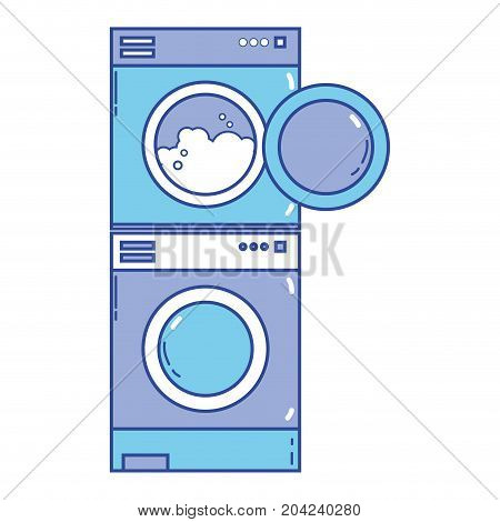 electronic washing machine and dryer to clean vector illustration