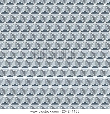 Seamless silver faceted polyhedral background pattern texture
