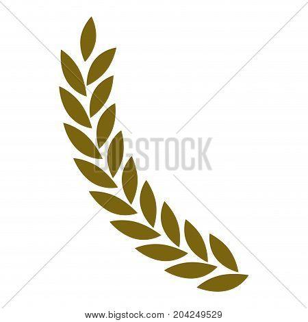 olive branch closeup in golden color vector illustration