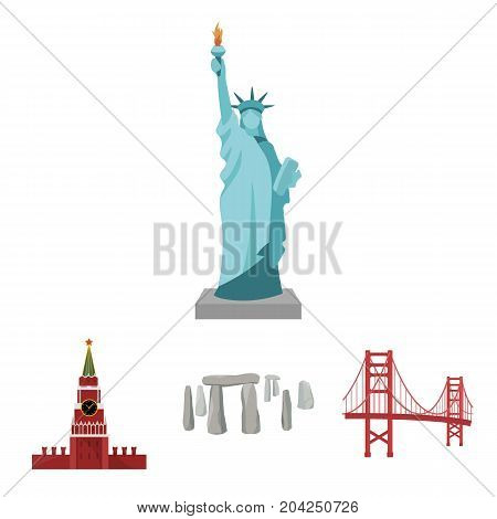 Building, landmark, bridge, stone .Countries country set collection icons in cartoon style vector symbol stock illustration .