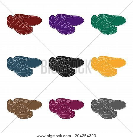 Shoes for cyclists. Special cycling for cycling.Cyclist outfit single icon in black style vector symbol stock web illustration.
