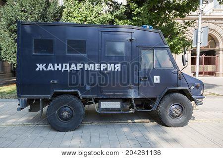 SOFIA, BULGARIA - AUGUST 09, 2017:Special police car. Bulgaria.