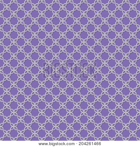 seamless pattern with white flowers on a purple background