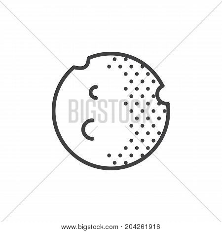 Moon planet line icon, outline vector sign, linear style pictogram isolated on white. Astrology symbol, logo illustration. Editable stroke.