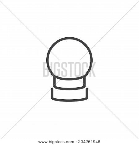 Crystal ball line icon, outline vector sign, linear style pictogram isolated on white. Astrology symbol, logo illustration. Editable stroke.