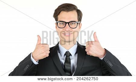 Modern Businessman  Thumbs Up , Profit, Income, Earnings, Gain,