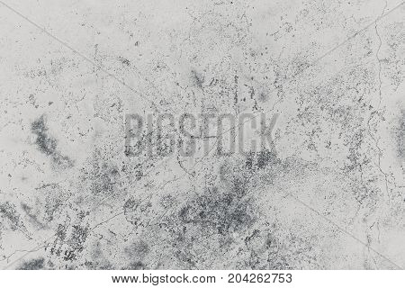Old Grunge Crack Grey Concrete Wall High Detail Texture Construction Backgroud