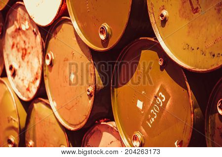 Matal Rust Steel Barrels Toxic Waste Transportat Pollution Chemical Acid Environmental Destruction C