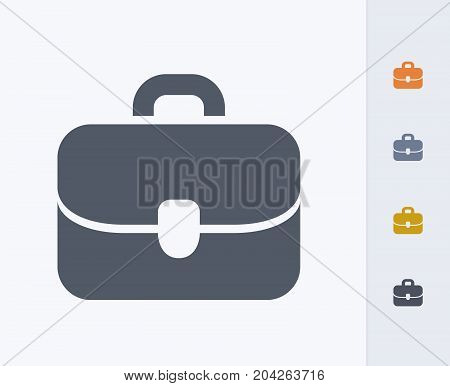Business Briefcase - Carbon Icons. A professional, pixel-perfect icon designed on a 32x32 pixel grid and redesigned on a 16x16 pixel grid for very small sizes.