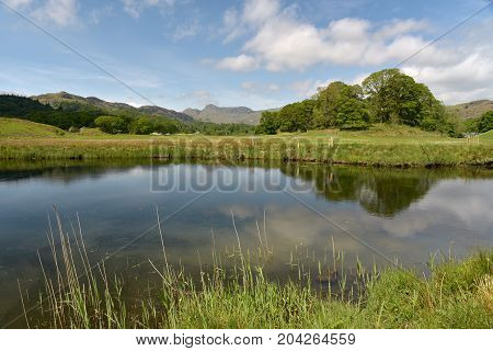 Langdale Pikes and Elterwater, English Lake District