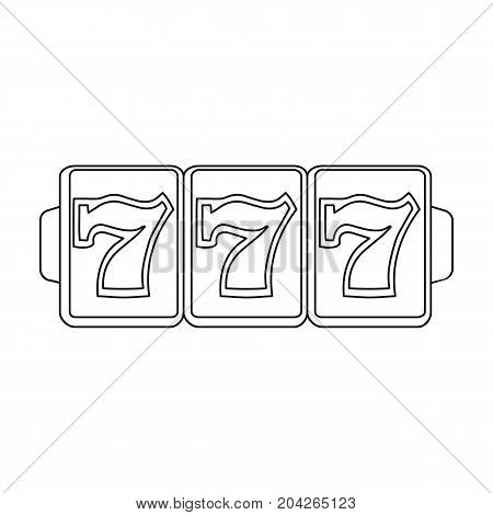 Game single icon in outline style.Game, vector symbol stock illustration .