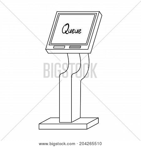 Queue, access terminal. Terminals single icon in outline style isometric vector symbol stock illustration .