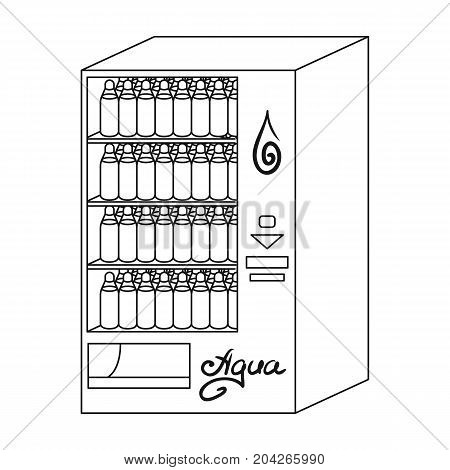 Terminal for the sale of bottled water. Terminals single icon in outline style isometric vector symbol stock illustration .