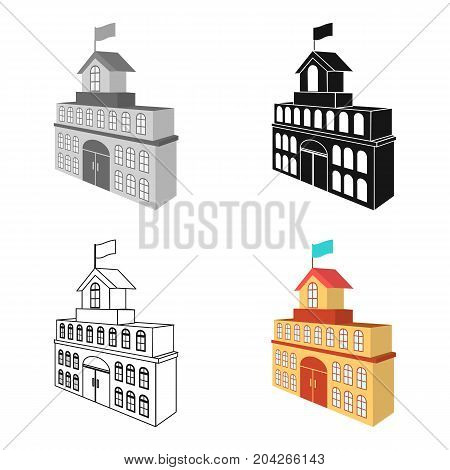 The building of the town hall. City Hall Building single icon in cartoon style vector symbol stock illustration .