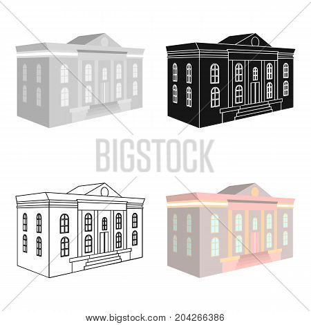 The architectural building of the museum. The Museum single icon in cartoon style vector symbol stock illustration .