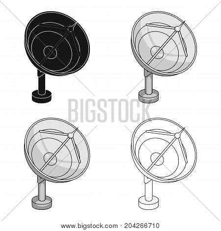 Space radar. Space technology single icon in cartoon style vector symbol stock illustration .