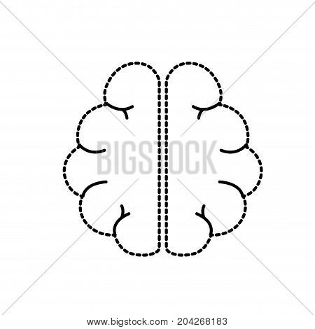 dotted shape anatomy brain to imagination and memory inspiration vector illustration