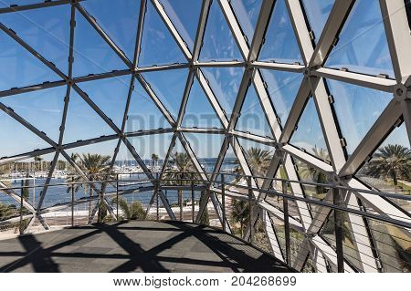 ST. PETERSBURG USA - FEBR 16 2017: Salvador Dali Museum in St. Petersburg FL USA. Salvator Dali - artist. The museum has one of the largest collection of works of Salvador Dali in the world.