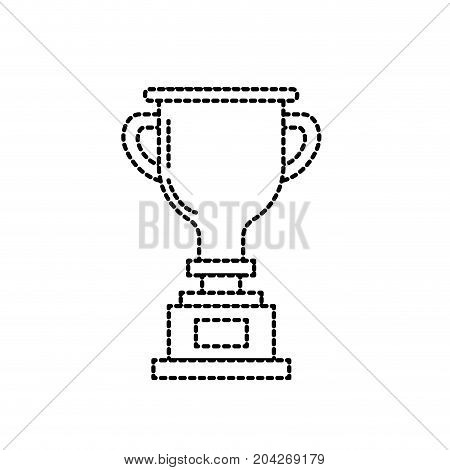 dotted shape prize symbol to winner champion vector illustration
