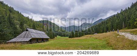 Zakopane, Poland - September 10, 2017: Pastoral Huts In Jaworzyn