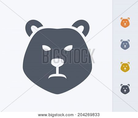 Bear Head - Carbon Icons. A professional, pixel-perfect icon designed on a 32x32 pixel grid and redesigned on a 16x16 pixel grid for very small sizes