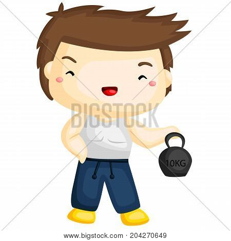 a guy doing fitness exercise and becoming healthy