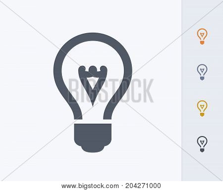 Light Bulb - Carbon Icons. A professional, pixel-perfect icon designed on a 32x32 pixel grid and redesigned on a 16x16 pixel grid for very small sizes