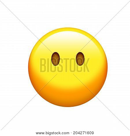 Isolated Yellow Sad And Sorrowful Face Icon
