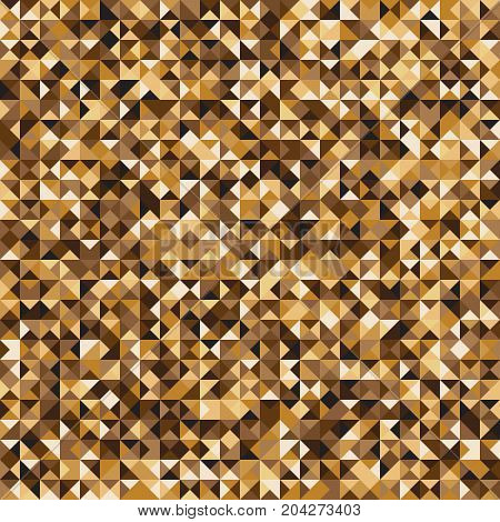 Pixelated yellow mosaic check pattern background stock vector