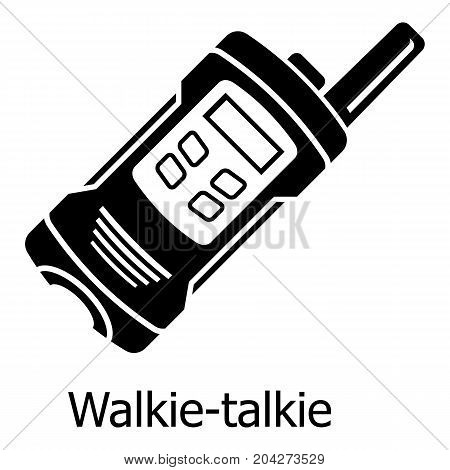 Portable radio icon. Simple illustration of portable radio vector icon for web