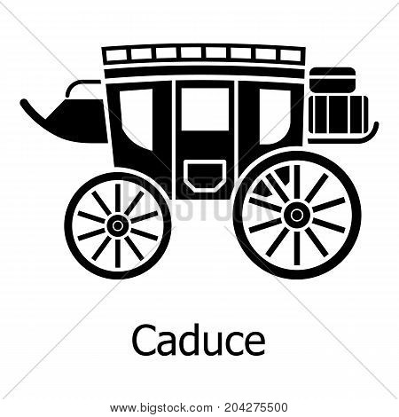 Carriage icon. Simple illustration of carriage vector icon for web
