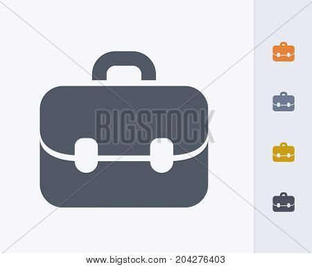 Leather Briefcase - Carbon Icons. A professional, pixel-perfect icon designed on a 32x32 pixel grid and redesigned on a 16x16 pixel grid for very small sizes