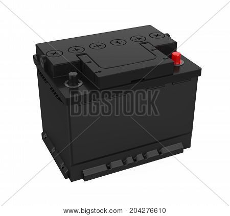 Car Battery isolated on white background. 3D render