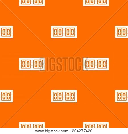 Scoreboard pattern repeat seamless in orange color for any design. Vector geometric illustration