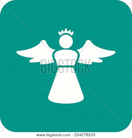 Angel, heaven, religious icon vector image. Can also be used for funeral. Suitable for mobile apps, web apps and print media.