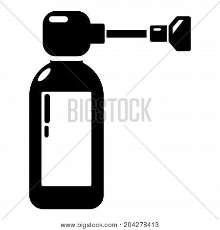 Inhaler icon . Simple illustration of inhaler vector icon for web design isolated on white background