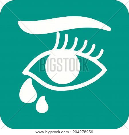 Tears, death, funeral icon vector image. Can also be used for funeral. Suitable for mobile apps, web apps and print media.