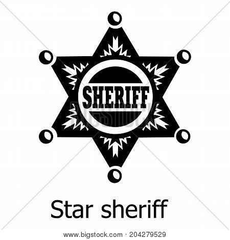 Star sheriff icon. Simple illustration of star sheriff vector icon for web