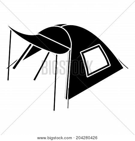 One person tent icon. Simple illustration of one person tent vector icon for web design isolated on white background