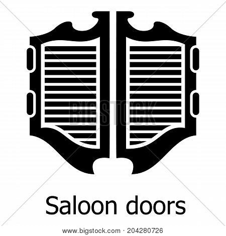 Saloon door icon. Simple illustration of saloon door vector icon for web