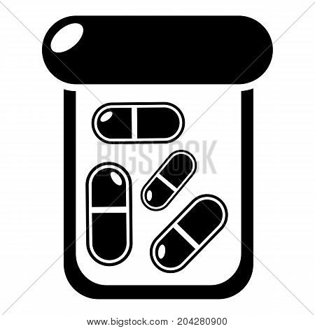 Bottle drug icon . Simple illustration of bottle drug vector icon for web design isolated on white background