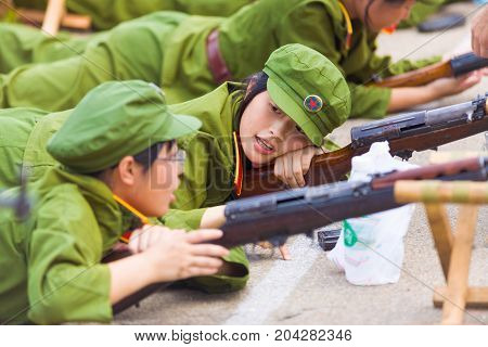 Chinese Student Military Training Uninterested