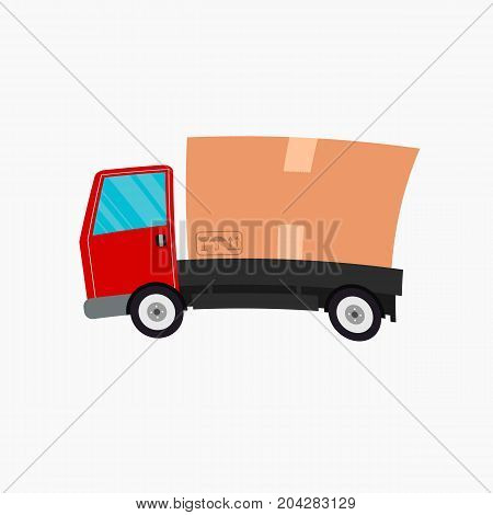Delivery truck isolated on white background. vector