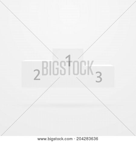 Victory podium isolated on grey background. vector