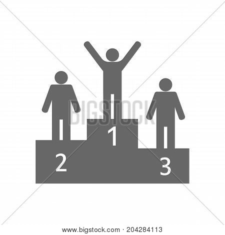 Victory podium icon with winners. vector illustration