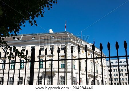 Austrian Federal Government with office of Federal Chancellor is located on Ballhausplatz Vienna